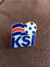 ICELAND International Football Logo Crest Enamel Pin Badge Butterfly Fitting