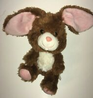 """Build A Bear Smallfrys Brown White And Pink Bunny  7"""" Plush Stuffed Animal"""