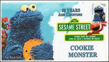 19-157, 2019, Sesame Street, Digital Color Postmark, FDC, Cookie Monster, 50 Yea