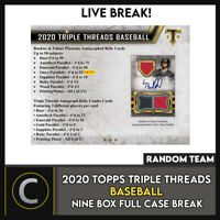 2020 TOPPS TRIPLE THREADS BASEBALL 9 BOX FULL CASE BREAK #A950 - PICK YOUR TEAM