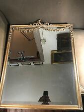 """Antique Ornate Gold Gilt Framed Mirror - 22.5"""" Wide x 26.5"""" Tall x 1.0"""" Deep"""