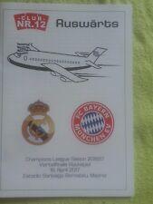 Programm C12 Sondflug Real Madrid Bayern München Champions League Viertelfinale