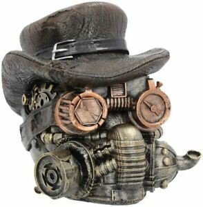 Nemesis Now Masked Menace Skull Figurine 16cm Steampunk U4135M8