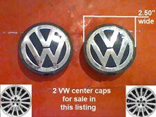 """1996-2009 2 Volkswagen Beetle Jetta Golf Passat VW Center Caps 7M7 7D0 E1 2.50"""""""