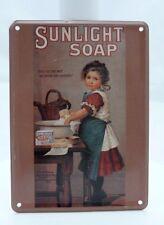 Tin Card petite carte métal rétro Sunlight Soap marron  11 x 8 cm