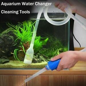 Fish Tank Aquarium Gravel Cleaner Syphon Vacuum Water Changer Pump Siphon