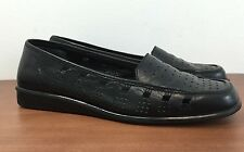 WORTHINGTON Sz 9M Black Leather Loafers Comfort Flexible Sole Women's Size 9 M