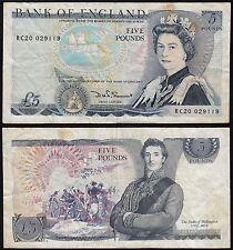 Great Britain Uk - 5 Pounds Banknote Pick 378c aVf Horse Battle (15403