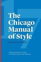 The Chicago Manual of Style, 17th Edition (Hardback or Cased Book)