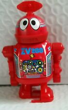 "Vintage ZV 288 TIN LITHO ROBOT Wind up PLAYGO 3.75"" ~ Ray Rohr Cosmic Artifacts"