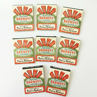 Barney's Lake Tahoe Fun & Fortune Matchbook Covers Lot of 8 Vintage