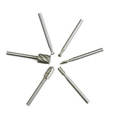 6Pcs/Set Tungsten Carbide Burrs Rotary Burr Set Head Die Grinder Bit US