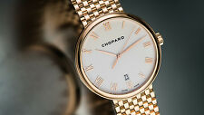 Chopard 18K RG Classique XL Gent's Ultra-Thin Automatic. Full Bracelet. Rare