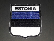 BACKPACKERS NATIONAL COUNTRY SHIELD FLAG SEW/IRON ON PATCH:- ESTONIA