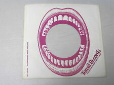 "TONSIL RECORDS~ VINTAGE ORIGINAL ~ RECORD COMPANY SLEEVE ~ 7"" SINGLE 45 RPM"