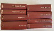 """lot 8 tomes de la collection """"les dictionnaires pratiques du langage"""" Larousse"""