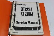 YAMAHA XT125J XT200J OEM SERVICE MANUAL BOOK LIT-11616-03-03
