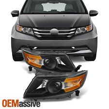 Fit 2011-2015 Honda Odyssey Black Headlights Lamps Replacement 11 12 13 14 15