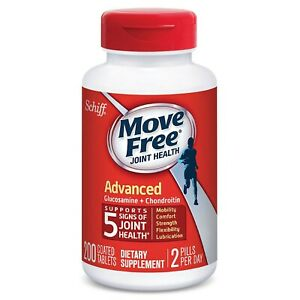 Schiff Move Free Joint Health Advanced Dietary Supplement, 200 Coated Tablets