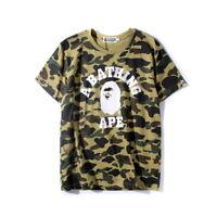 Men's A Bathing Ape T-shirt  Camo Bape tee US size Green Color