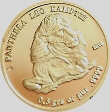 CAMEROON REP. = 2011 = 1500 FR. = ANIMALS = LION = LEO = GOLD PROOF