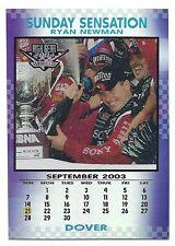 Ryan Newman 2004 Wheels High Gear Sunday Sensation Card, # SS 8 of 9.