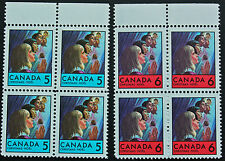 Timbre / Stamp CANADA - Yvert et Tellier n°418 x4 et 419 x4 n** (cyn7)