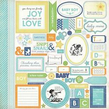"CARTA BELLA- ""BABY MINE BOY"" 12""x 12"" Stickers  Everything you need to Dream Big"