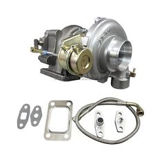 T3 Internal Wastegate Turbo Charger 0.48 Exhaust 0.60 Compressor w/ Oil Line kit