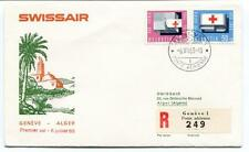 FFC 1963 Swissair First Flight Geneve Alger Algerie REGISTERED Poste Arienne