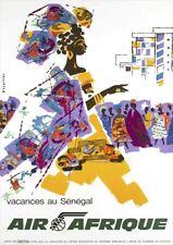 Air Afrique   Vacances au Senegal   Vintage Travel Poster   A1, A2, A3
