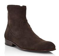 John Varvatos Star USA Seagher Side Zip Brown Boot Men's Size 9 M 14872*