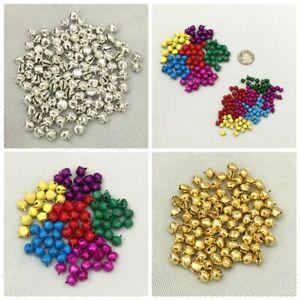 50 / 100 PCS Iron Beads Christmas Jingle Bells Pendants Charms Xmas 6MM/ 10MM