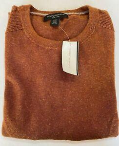NWT Banana Republic Silk Linen Crewneck Sweater Men's Medium Brown MSRP $52