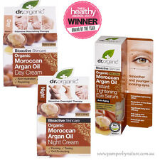 Dr Organic Moroccan Argan Oil Skin Care Moisturising and Eye Serum Pack