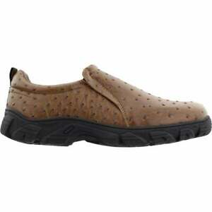 Roper Faux Ostrich Performance Slip On  Mens  Casual Shoes