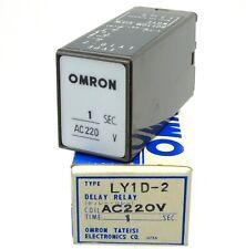 OMRON Verzögerungsrelais LY1D-2 Relais Delay Relay 220V AC 1sec Lagerauflösung