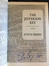 The Jefferson Key by Steve Berry Signed 1st Brand New Cotton Malone 7 HBDJ 2011
