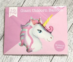 GIANT UNICORN FOIL BALLOON - SELF INFLATING/ NO HELIUM NEEDED - PARTY - 76 CM
