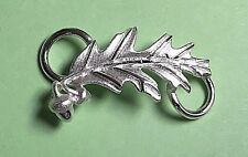 Oak Leaf Clasp Sterling Silver 925 New (Used on Convertible Bracelets) Usa made
