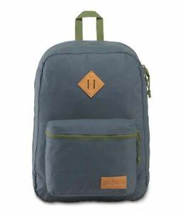 New JANSPORT Backpack Super Lite Dark Slate Grey/Olive  For Unisex