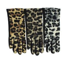Women's Leopard Print Gloves Design Style Winter Fashion Animal Pattern Gloves