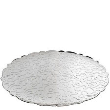 Round Tray Alessi MW07 Dressed in 18/10 Stainless Steel Mirror Polished - Italy
