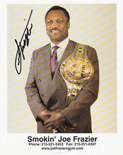 Joe Frazier firmado autografiado foto Vintage 8 X10 + certificado De Autenticidad