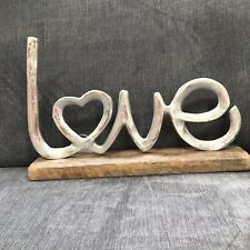 Silver Coloured Mounted Love Sign