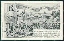Roma città Militari Bersaglieri Gibus cartolina QT5697