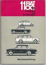 1966 FIAT 1100 R Limousine / Kombiwagen Betriebsanleitung Handbuch 3. ausgabe