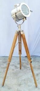 Nautical Chrome Spot Light Modern Royal Designer Nautical Tripod Floor Lamp