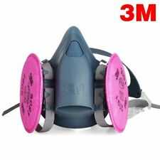 3M 7503 Half Facepiece Respirator W/ 1 Pair 2091 P1OO Filters, Size LARGE