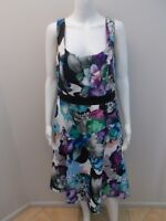 CITY CHIC FLORAL PRINT OCCASIONS DRESS SIZE XS=14/16  (#J1014) NEAR NEW